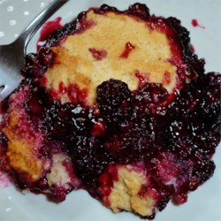 Blackberry Cobbler II Recipe - Throw together this cobbler in minutes using fresh berries from the yard!