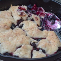 Berry Best Blackberry Cobbler Recipe - This cobbler, made with basic pantry ingredients, has lots of fresh blackberries. Top with whipped cream with a pinch of nutmeg added for extra flavor.