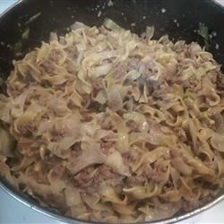 Quick Cabbage and Noodles
