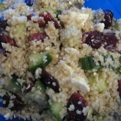 Couscous, Cranberry, and  Feta Salad Recipe - This recipe is great hot or cold. I invented it in grad school when I had no time to cook. It's a quick and easy one dish recipe. I use it as a side dish for nice meals or a full meal for lunch. You can make it in 5 minutes or less and eat immediately. For extra protein you can add chicken breast.