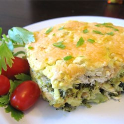 Chicken Divan Recipe - Cooked chicken, broccoli, mushrooms, and water chestnuts are baked in a creamy Cheddar cheese-topped casserole. Serve with rice and a fruit salad, if desired.