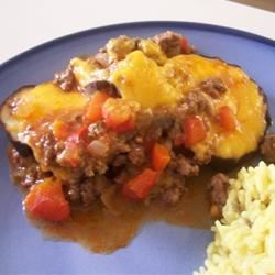Beef and Eggplant Skillet Meal