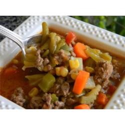 Savory Vegetable Beef Soup