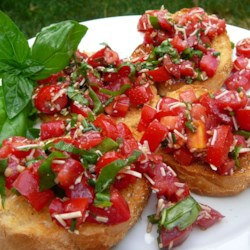Balsamic Bruschetta Recipe - Balsamic vinegar adds a delicious zip to easy bruschetta.