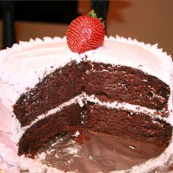 Chocolate Zucchini Cake with Strawberry Frosting