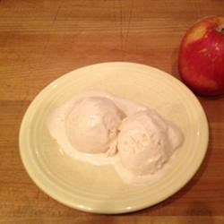 Apple Caramel Ice Cream Recipe - No need for an ice cream maker to make this sweet, apple caramel ice cream. Scoop a little bit onto your apple pie for an extra treat.