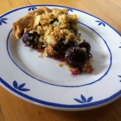 Cherry Pie with Almond Crumb Topping Recipe and Video - Chef John's fresh cherry pie features a crunchy almond streusel topping.
