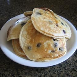 Blueberry Pancakes Recipe - This is an excellent recipe for blueberry pancakes. A delicious, nutritious and flavorful breakfast. When blueberries are out of season, use thawed frozen blueberries.