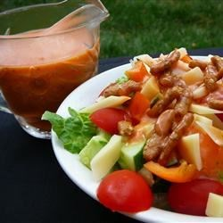 Dorothy Lynch(R) Style Salad Dressing Recipe - Mix up a batch of this tangy tomato dressing for your taco salads.