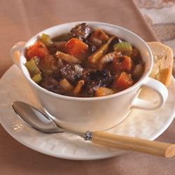 Lamb and Winter Vegetable Stew Recipe - Lamb meat and winter vegetables combine to make a thick, hearty stew.