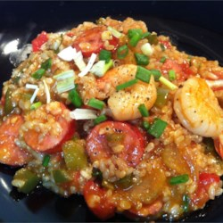 Chef John's Sausage & Shrimp Jambalaya Recipe - While true jambalaya is really more of a thicker rice stew than a soup, it's one of those dishes that more stock can be added to easily make it into a soup recipe.