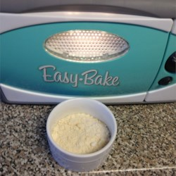 Easy Bake Oven Cake Mix Recipe - Make your own miniature cakes for a toy oven.  You may substitute 3 tablespoons cocoa for lemonade mix to make chocolate cake.