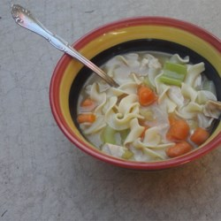Regular Chicken Soup Recipe - A simple, hearty chicken soup with noodles. It's perfect for a chilly winter afternoon.