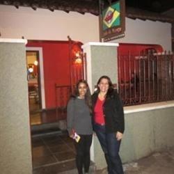 me and Ana Cristina outside Dedo de Moça