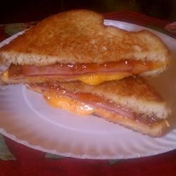 Grilled Ham and Cheese With a Twist Recipe - Mango chutney adds a delicious twist to a grilled ham and cheese sandwich.