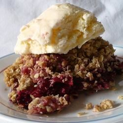 My Plum Crisp Recipe - An easy oat-topped plum crisp is made with ingredients found in most kitchens.