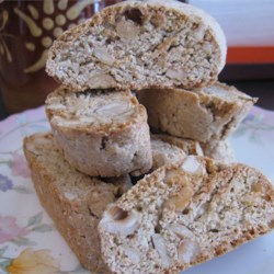 Cantucci Biscotti Recipe - These are so crunchy they should be dunked (Coffee, Latte, Espresso, Vino, etc.).  If you don't have hazelnuts, use almonds instead.