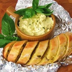 Basil Butter Recipe - Delicious basil flavored butter recipe. I love this tossed into hot pasta or on grilled veggies and corn on the cob.
