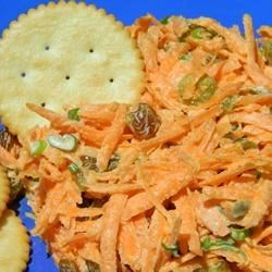 Carrot Salad with Golden Chardonnay Raisins Recipe - Golden raisins plumped with Chardonnay wine add sweetness and tang to a sweet and savory carrot salad.