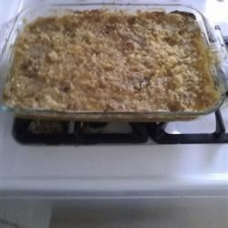 Peach cobbler dump cake first try