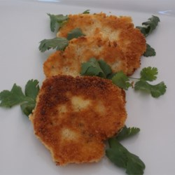 Potato and Bread Cutlets Recipe - Crispy fried potato cutlets are a delicious companion for eggs and bacon.