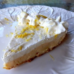 Refrigerator Lemon Margarita Pie Recipe - A big splash of tequila gives this silky sweet lemon pie a delightful bite.