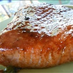 Teriyaki Salmon Recipe and Video - Sweet and savory teriyaki sauce with sesame seeds and ground mustard powder flavor delicious broiled salmon steaks for a main dish that needs only a few minutes in the oven.