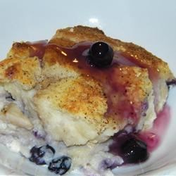 Blueberry Stuffed French Toast Recipe - A rich and filling baked French toast with a deliciously sweet blueberry compote.