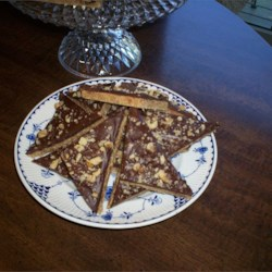 Maple Toffee Bars Recipe - The maple flavoring in these soft shortbread bars with chocolate topping gives a buttery toffee taste without a lot of work. These have been a family favorite for three generations.