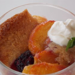 Peach and Blackberry Cobbler Recipe - When peaches and blackberries are in season, whip up a batch of this easy, delicious cobbler to serve warm.