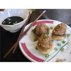 Chinese Style Stuffed Mushrooms