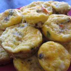 Sausage Egg Muffins Recipe - Sausage, eggs and seasoning baked into savory 'muffins'.