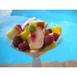 Fruit Salad with Lemon-Cinnamon Syrup Recipe - Lemon-cinnamon syrup turns this fruit salad into a refreshing dessert.