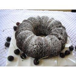 Chocolate Chip-Amaretto Pound Cake Recipe - Start with a devil's food cake mix to deliver this amaretto-flavored pound cake studded with chocolate chips.