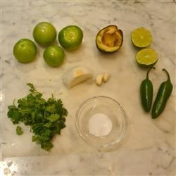 Ingredients for Salsa Verde with Avocado