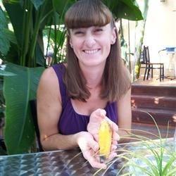 Kristal with the Sumatran banana