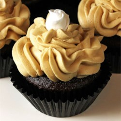 Coffee Frosting on Espresso Cupcakes