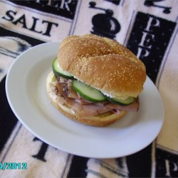 Dill Cream Cheese, Roast Beef and Cucumber Sandwiches Recipe - Cucumber adds a refreshing flavor to these roast beef sandwiches spread with dill cream cheese.