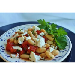 Tuscan Bean 'Goppel' Recipe - This easy and earthy side dish is great on it's own or served with some good crusty bread and a glass of wine. Add grilled vegetables to transform this into a hearty vegetarian entree.