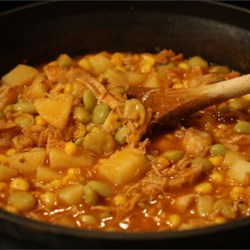 Sunday Brunswick Stew Recipe - This slow cooker stew is a perfect use for leftover pork and the bountiful fall crop of butternut squash.