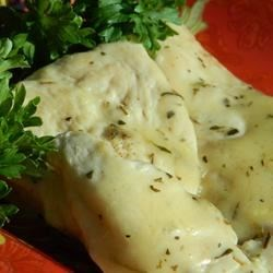 Pan Sauce Chicken Recipe - Brown lightly seasoned chicken breasts, then make a simple pan sauce with white wine, chicken broth and herbs. Simmer all together and you have Pan Sauce Chicken!