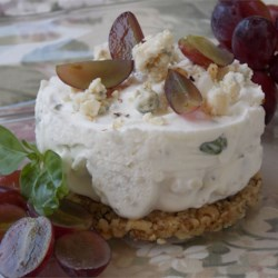 Blue Cheese Cheesecake Recipe - A sensuous appetizer with a variety of textures and flavors. Use any type of fresh herbs you have available. Serve with an assortment of fine crackers.