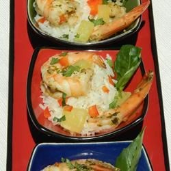Thai-Style Rice Salad Recipe - Shrimp combines with pineapple, lemon grass, and basil in this Thai-inspired dish.