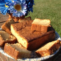 Moist Peach Pound Cake Recipe - Using canned peaches makes it easy to enjoy this delicious and moist cake year-round.
