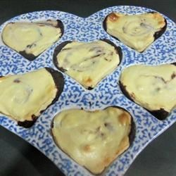 Brownie Cheesecake Hearts