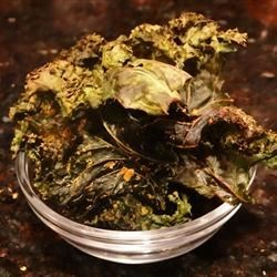 Kale Chips with Honey Recipe - Use a food dehydrator to make crispy and sweet kale chips.