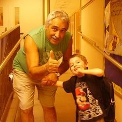 Gabe and Nonno (my dad) after school :)