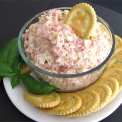 Ham Salad Spread Recipe - Whip up a quick and easy ham salad spread with hard-cooked eggs, mayonnaise, and pickle relish. Serve with assorted crackers.
