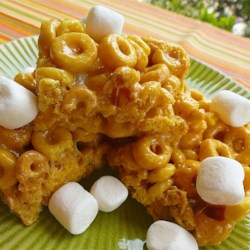 No-Bake Peanutty Graham Treats Recipe - No-bake cereal bars are honey-peanutty and chewy, an old favorite made new with honey graham cereal. And, if you toss on some chocolate chips, they'll taste just like s'mores.