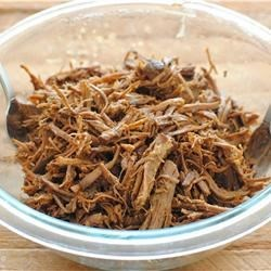 No Fuss Shredded Beef Tacos Recipe - A cup of coffee, tomatoes, and chili seasoning bring their flavors to slow-cooked Mexican-inspired beef. Serve the meat shredded in warm tortillas with your favorite toppings.